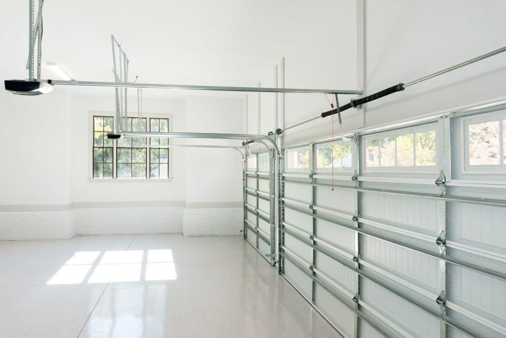 Double Garage Inside - Ideal Garage Doors